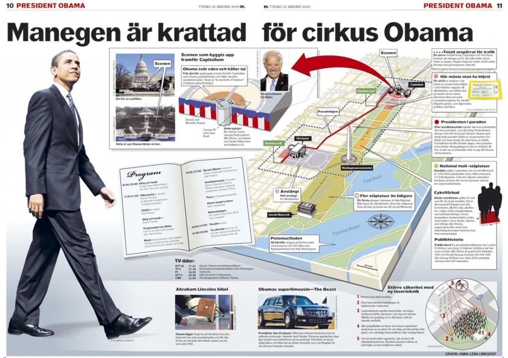 Dagens Nyheter Obamas installation