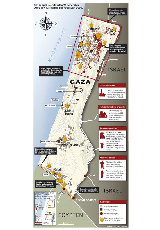Gazakarta Dagens Nyheter